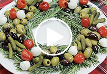 Holiday Antipasto Wreath