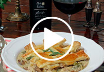 Pinot Noir + Chicken Pot Pie