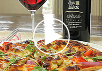 CabMerlot + Tortilla Pizza