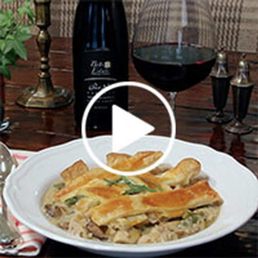 Roasted Chicken Pot Pie with Tarragon & Wild Mushrooms