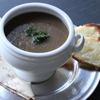 Puree of Four Onion Soup with Gruyere Toast